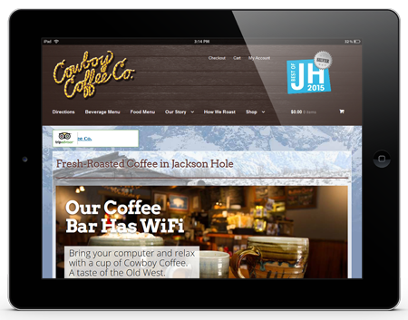 Responsive eCommerce Cowboy Coffee
